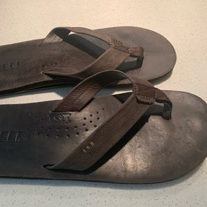 Reef Draftsmen brown leather men's sandals size 11